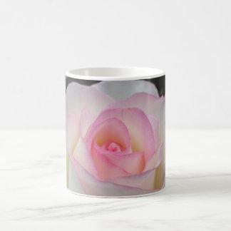 White-Pink Rose Coffee Mug