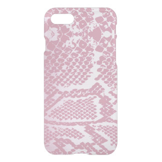 White Pink Snake Skin iPhone Clearly™ iPhone 8/7 Case