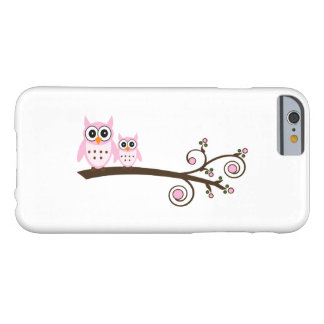 White & Pink Theme Owl iPhone 6/6s Case