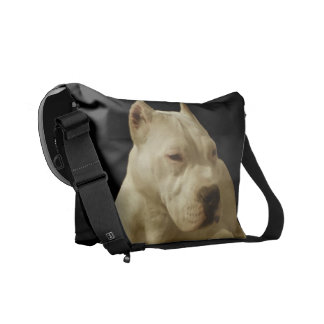 White Pitbull Messenger Bags