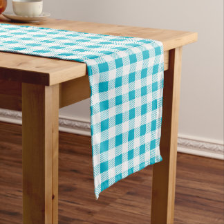 White Plaid Custom Table Runner