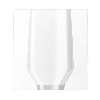 White plastic bottle for shampoo notepad