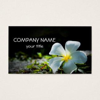 White Plumeria Business Card