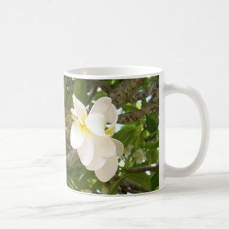 White Plumeria Cofee Mug