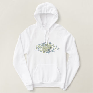 White Poinsettia Embroidered Hoodie
