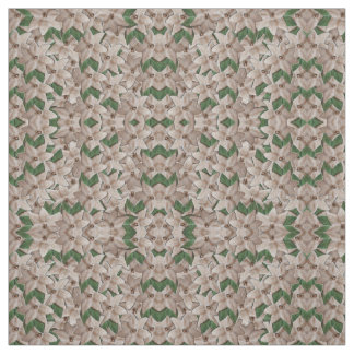 White Poinsettia Flowers Fabric