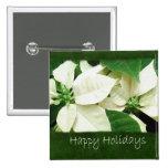 White Poinsettias 1 - Happy Holidays