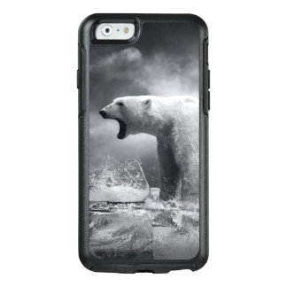 White Polar Bear Hunter on the Ice in water OtterBox iPhone 6/6s Case