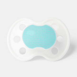 White Polka Dot On Blue Pacifiers
