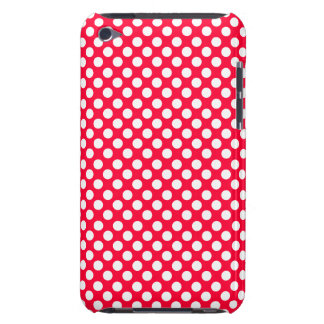 White Polka Dot Pattern Fun Cover Case or Skin iPod Touch Cover