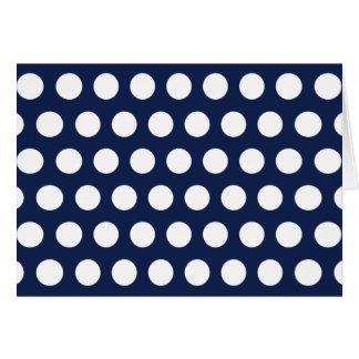 White Polka Dots Card