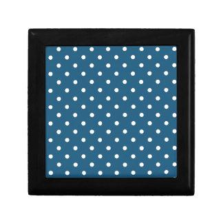 White polka-dots gift box
