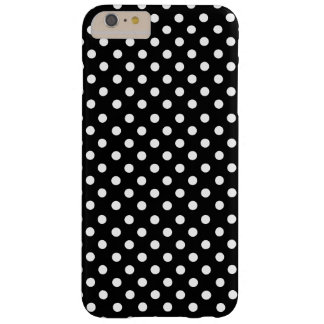 White polka dots in black barely there iPhone 6 plus case