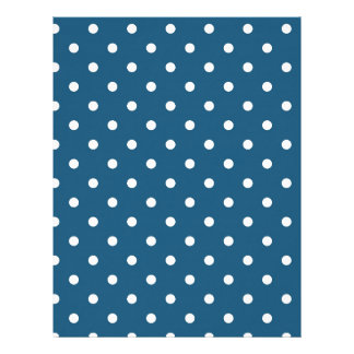 White polka-dots letterhead