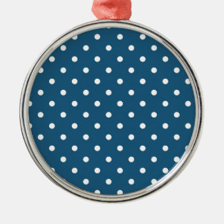 White polka-dots metal ornament