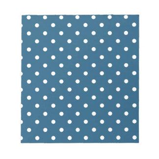 White polka-dots notepad