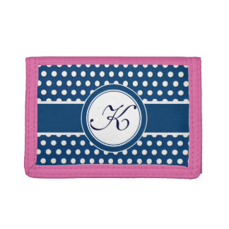 White Polka-Dots on a Field of Blue Wallet