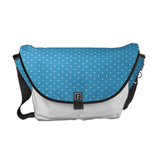 White Polka-dots on Blue Courier Bag