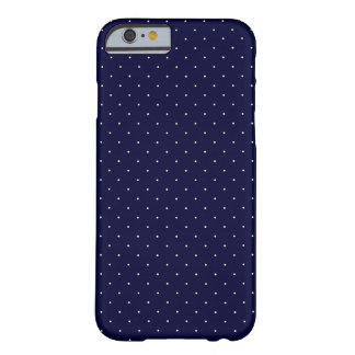 White Polka Dots on Dark Blue Barely There iPhone 6 Case