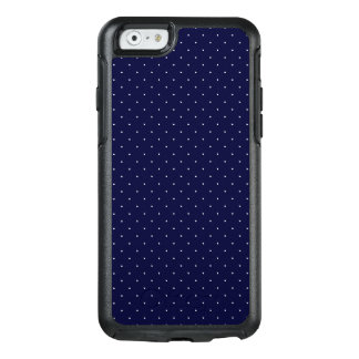 White Polka Dots on Dark Blue OtterBox iPhone 6/6s Case
