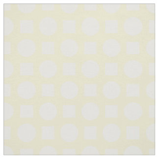 White polka dots on lemon yellow fabric