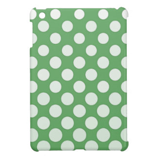 White polka dots on lime green case for the iPad mini