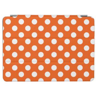 White polka dots on orange iPad air cover