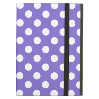 White polka dots on periwinkle iPad air covers