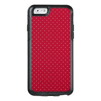 White Polka Dots on Red patterned OtterBox iPhone 6/6s Case