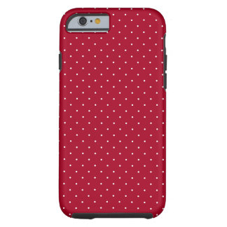 White Polka Dots on Red patterned Tough iPhone 6 Case