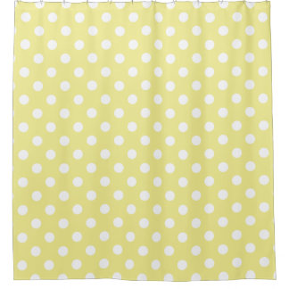 White Polka Dots on Sweet Butter Yellow