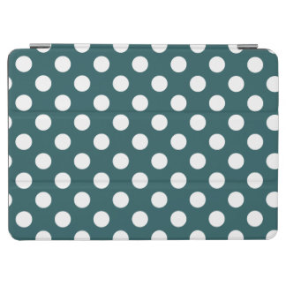 White polka dots on teal iPad air cover
