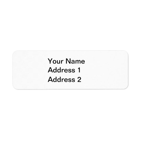 White Polka Dots on Transparent Background Return Address Label
