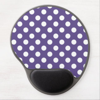 White polka dots on ultra violet gel mouse pad