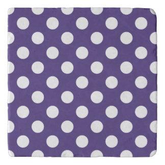 White polka dots on ultra violet trivet