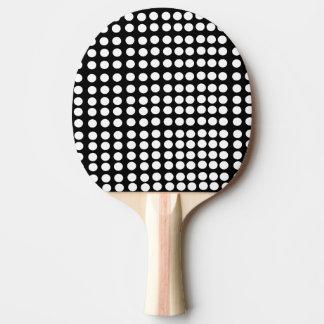 White Polka Dots Ping Pong Paddle