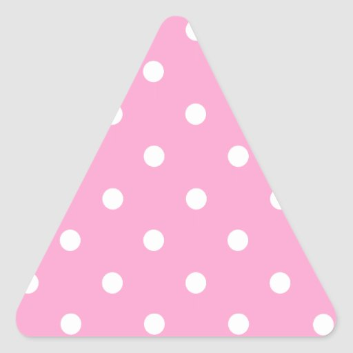 White Polka Dots with Pink Background Sticker