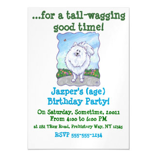 White Pomeranian Gifts & Accessories Magnetic Invitations