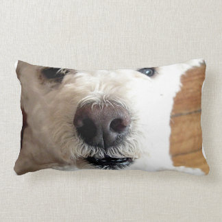 White Poodle Dog Pillow
