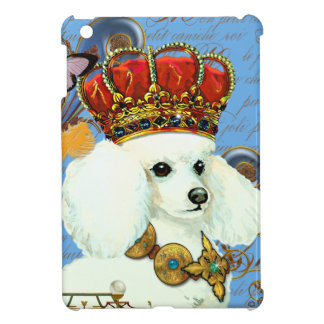 White Poodle King Painting Dress up iPad Mini Cover