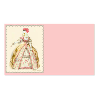 White Poodle Marie Antoinette Business Cards