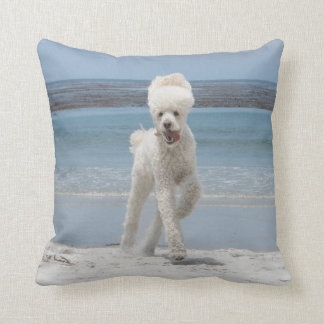 White Poodle Pillow