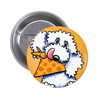 White Poodle Pumpkin Eater Off-Leash Art™ Pin
