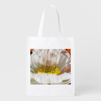 White Poppy Reusable Bag