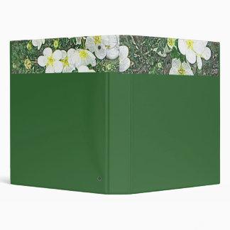 White potentilla flower binder