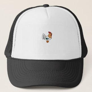 white poultry trucker hat