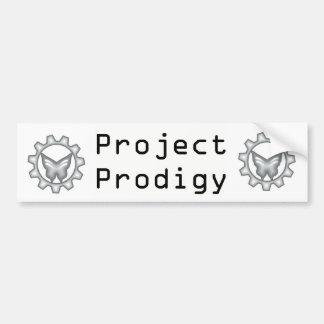 White Project Logo Bumper Sticker 2