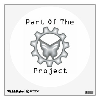 White Project Logo Wall Decal 4