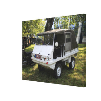 White Puch Haflinger Canvas Print