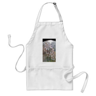 white puffs of flowers streaming downwards standard apron